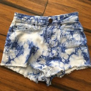 High Rise Cheeky Blue & White Tie Dye Size 25